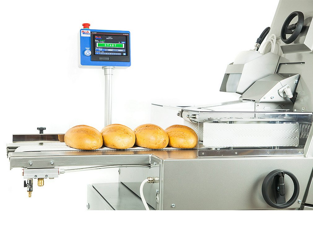 Bread slicer cutting line