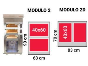 Modulo 2 komory wypiekowe