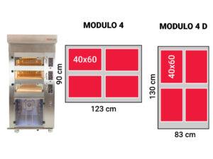Modulo 4 komory wypiekowe