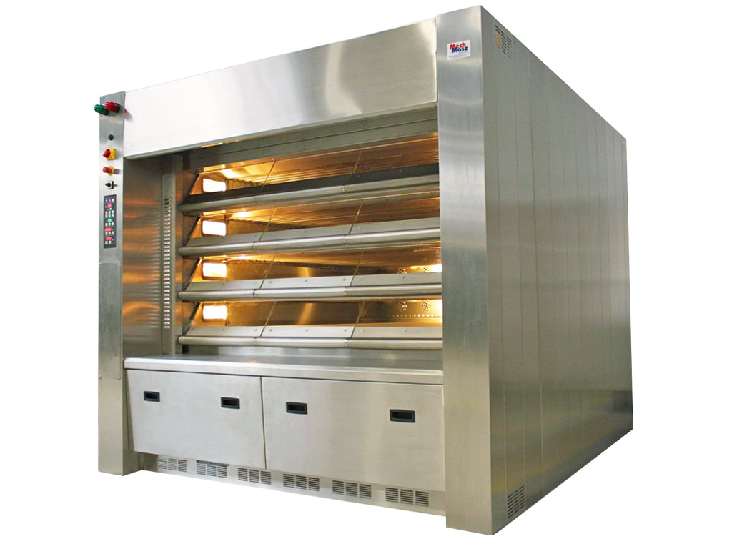 Steam pipe deck oven bakery