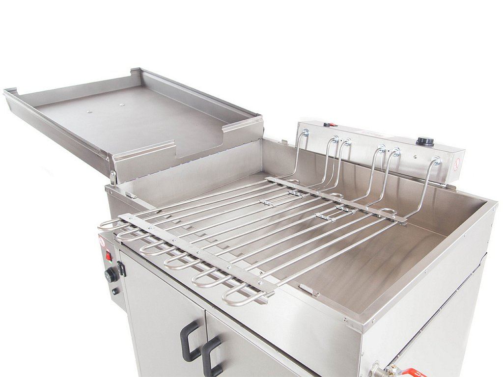 Doughnut fryer with a proofer chamber and heaters set
