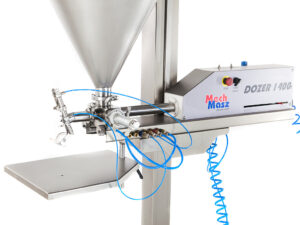 Dosing machine cream dosing close