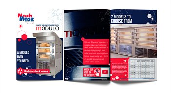 Modular deck ovens for bakery and pastry